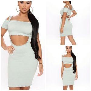NWT Fashion Nova *Stand Beside Me* Smocked Dress